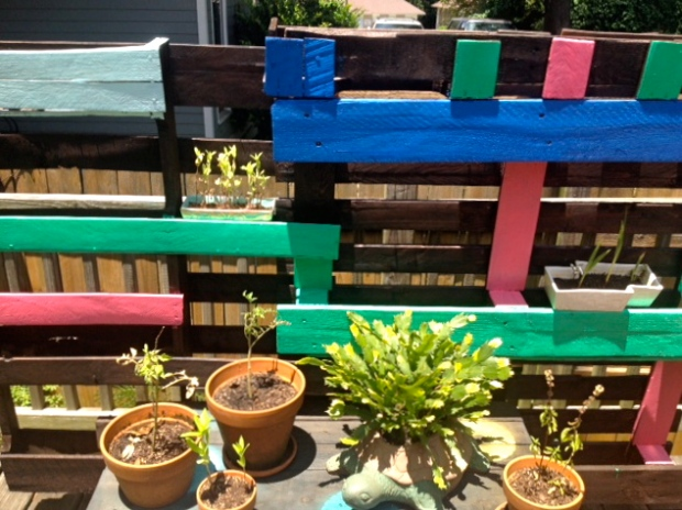 Just add plants!  I arranged my container garden on the bench for a touch of greenery.