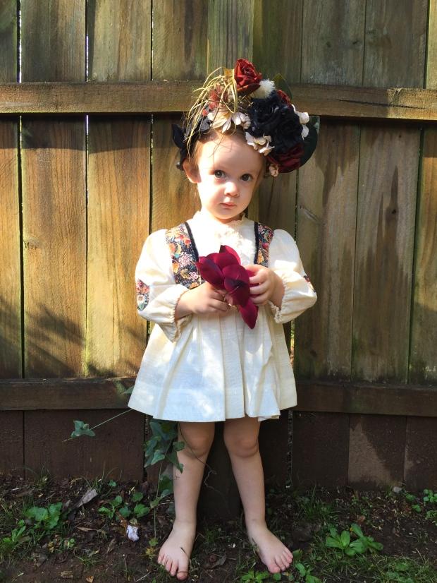 On Viva: Vintage Boho Floral Dress by Viva Wild Mini, Homemade Flower Crown, Thrifted Guitar